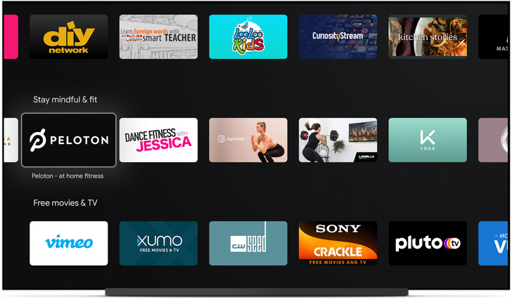 Android TV highlights at-home workout apps in new Play Store fitness category