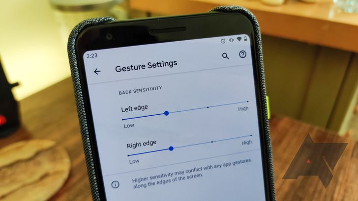 Android 11 DP3 adds independent left and right sensitivity options for gesture navigation