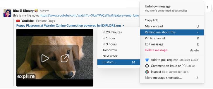 Slack finally lets us set custom message reminder times, because not everyone starts work at 9am