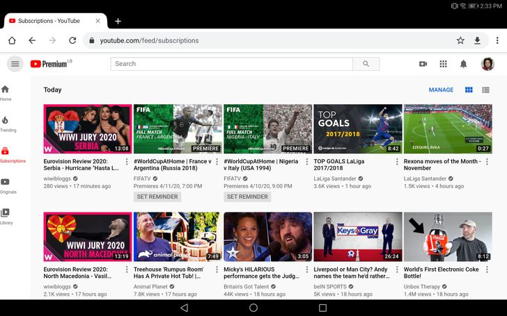 YouTube adapts its website to large touchscreens like iPads and Chromebooks