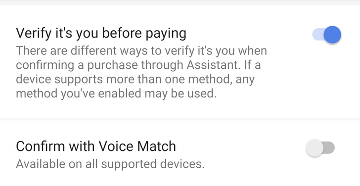 Google confirms new voice-confirmation feature for purchases in Assistant