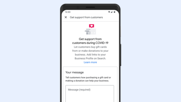 Google Search and Maps are making it easier to support small businesses with donations and gift cards