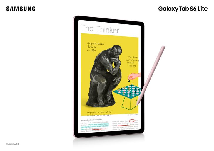 The new Samsung Galaxy Tab S6 Lite is a mid-range tablet with an S Pen