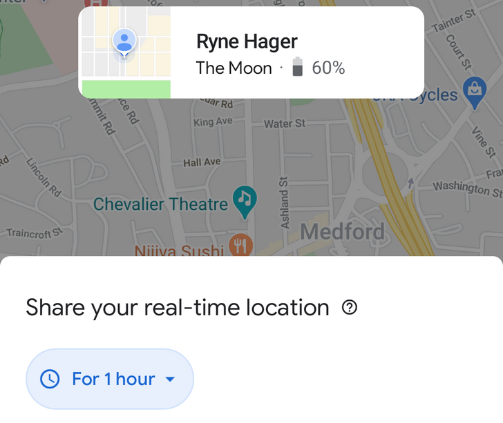 Google Maps spruces up location sharing interface with modern new look