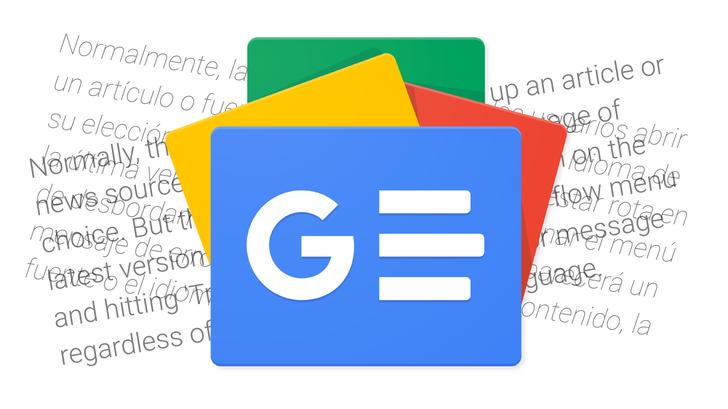 Google News in-app translation is broken