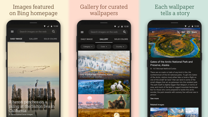 Bing Wallpapers app launches with daily updates to your background (APK Download)
