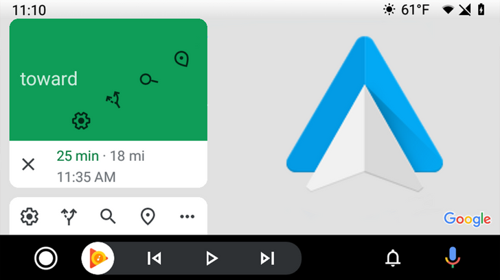 Android Auto just got new Material icons in Google Maps navigation