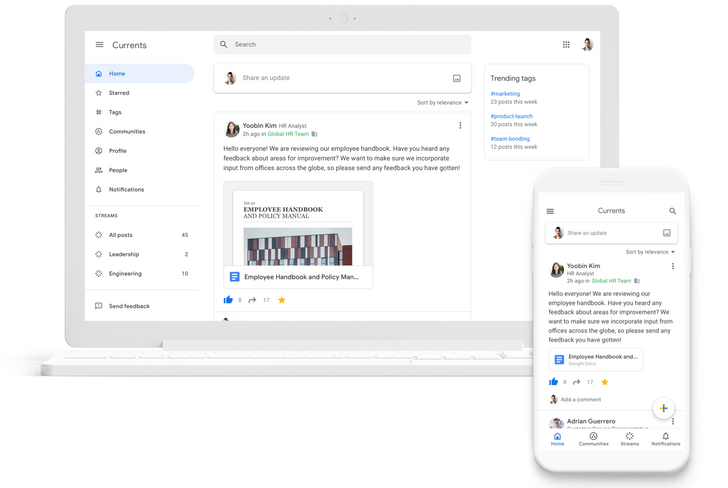 Google+ is dead, long live Currents (for G Suite users)