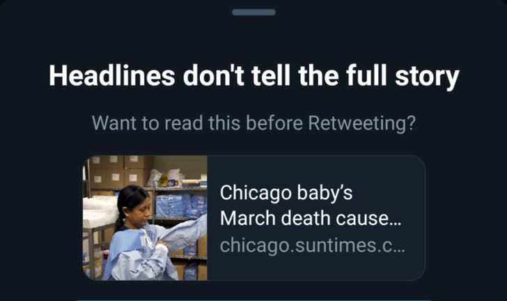 Twitter would love it if you actually read some of the stuff you retweet