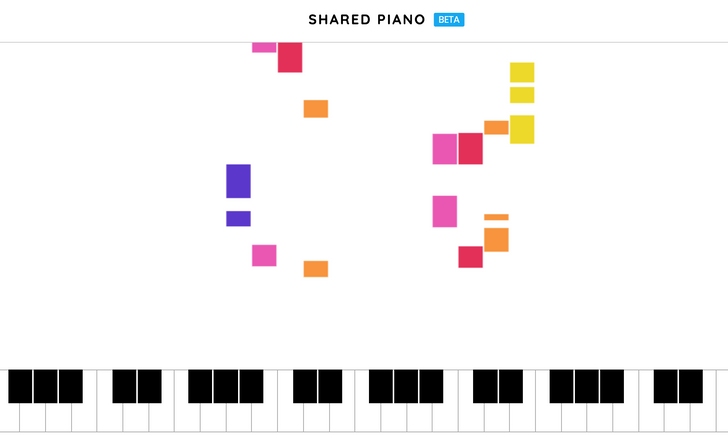 Shared Piano is a Google experiment for jamming with your friends remotely