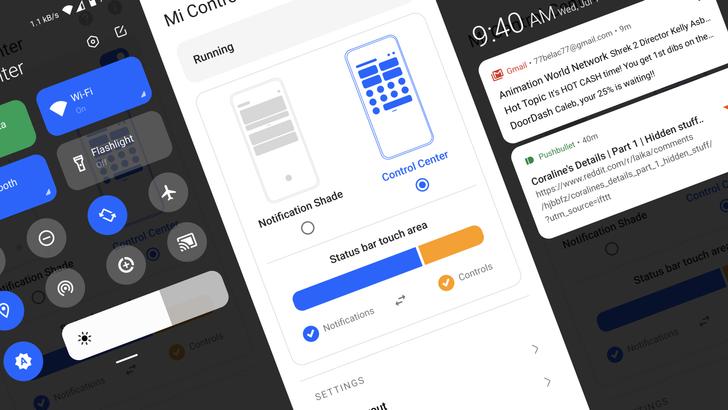 Mi Control Center app brings iOS design to your quick settings panel