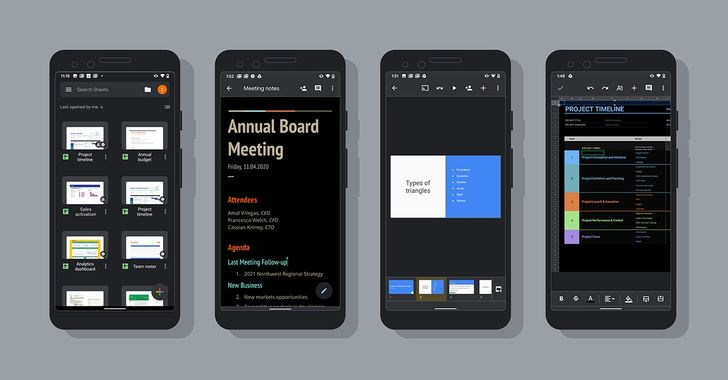 Google Docs dark theme is officially out for Android