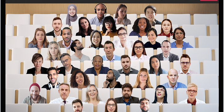 Microsoft Team's Together Mode puts you in a virtual auditorium