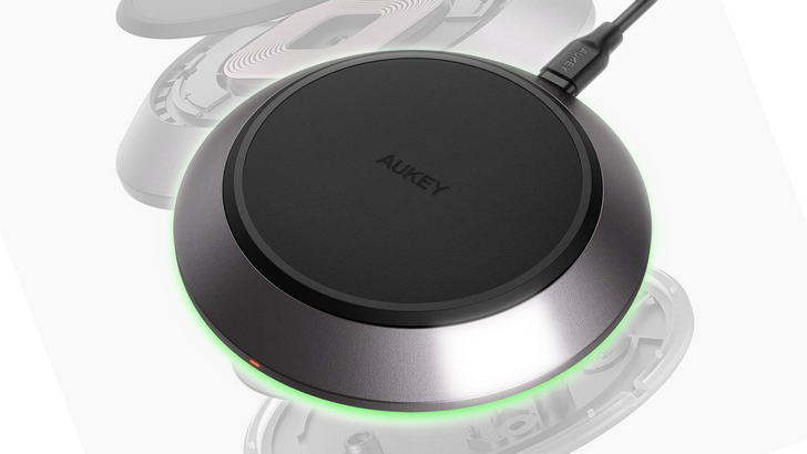 Aukey 15W wireless charging pad is on sale for $18 ($22 off) with coupon code
