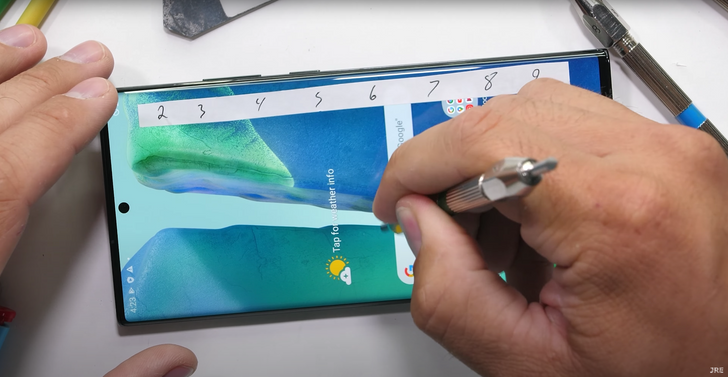 Galaxy Note20 Ultra holds up well against JerryRigEverything's wrath