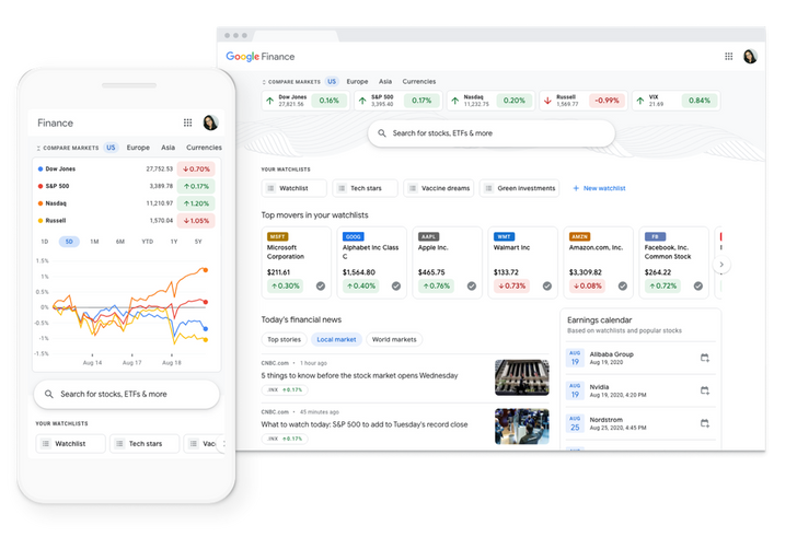 Google Finance receiving a makeover, will bring back portfolios later this year