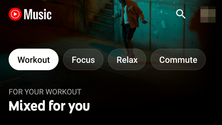 YouTube Music gets a tabbed homescreen to match your current mood and activity
