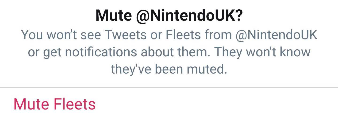 How to mute fleets on twitter