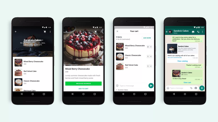 WhatsApp Business users can now essentially build an online store, thanks to new shopping cart support