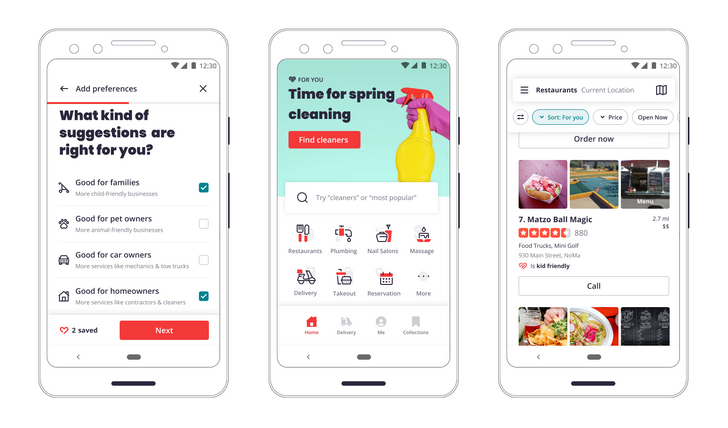 Yelp gets another redesign, with a sharper focus on user preferences