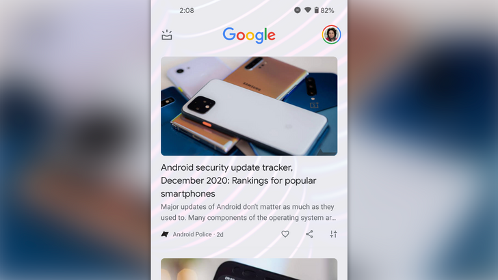Google is testing a new cardless Discover interface