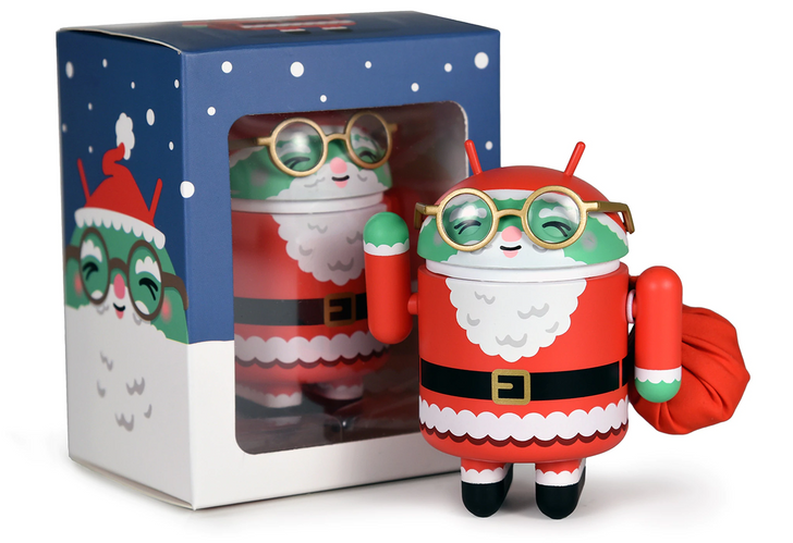 Pick up a Santa-themed Dead Zebra Android mini figurine for next year, because it won't arrive in time for Christmas