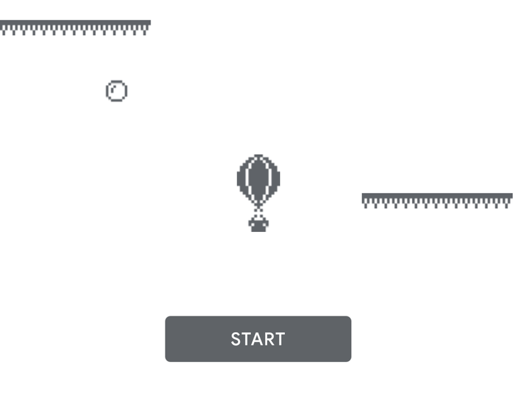 Hot Air Balloon offline mini-game Easter egg for the Google Play Store spotted in the wild
