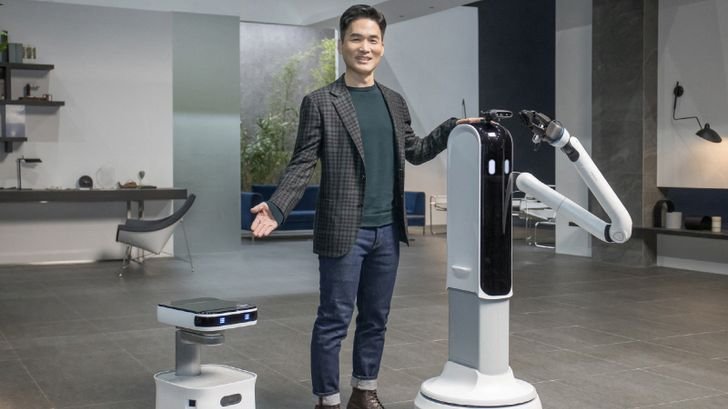 Samsung's smart home announcements include a robot with a big arm and a vacuum with LiDAR