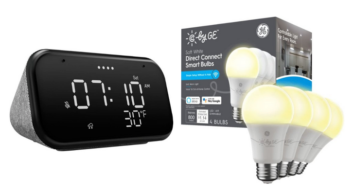 Get Lenovo's Smart Clock Essential and four C by GE smart bulbs for just $30 ($65 off)
