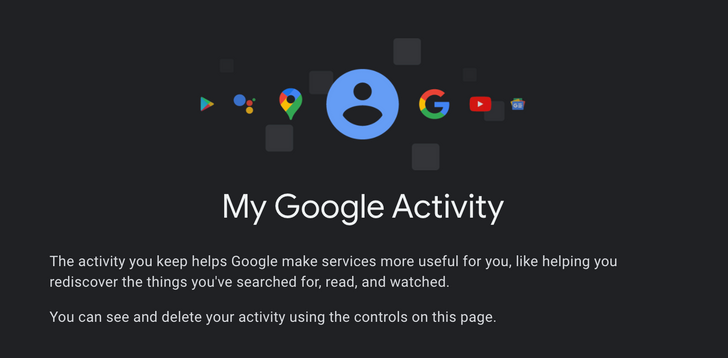 Google My Activity is now available in dark mode on the web