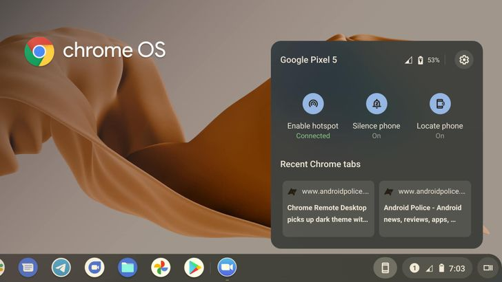 Phone Hub for Chrome OS is slowly rolling out to Beta and Dev channels