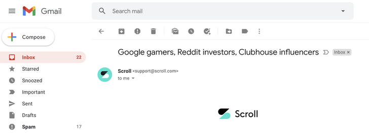 Gmail لاختبار سطح المكتب الرموز التي تم تعديلها بمهارة