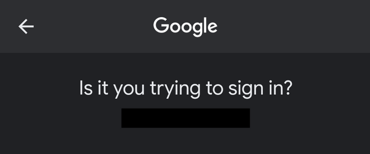 Google is bringing dark mode to the 2FA prompt on Android