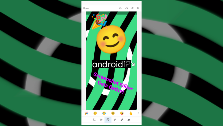 Android 12's screenshot editor is getting a lot better