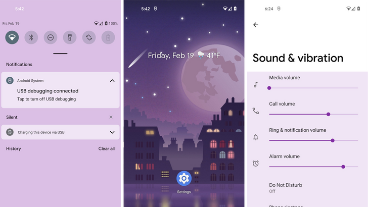 This is how the wallpaper-based theme for Android 12 looks like