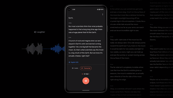Pixel-exclusive Google Recorder getting backup support and a snazzy new web interface