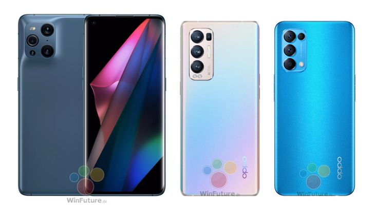 Oppo Find X3 Pro, X3 Neo, and X3 Lite photos and full specs leak ahead of formal debut