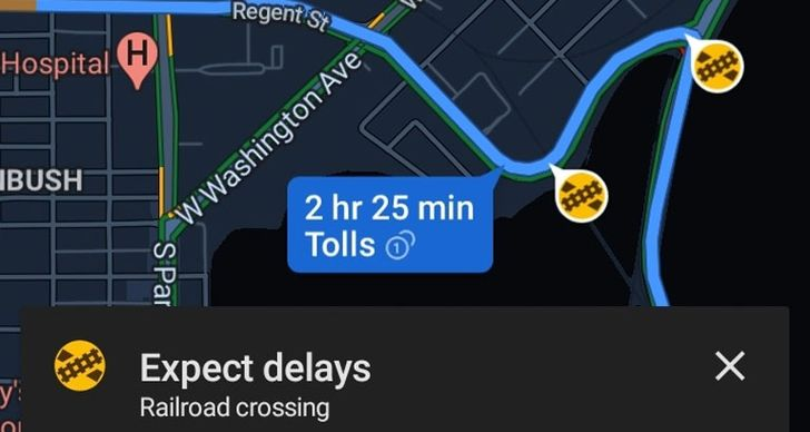Google Maps may soon help you avoid railroad crossings along your route