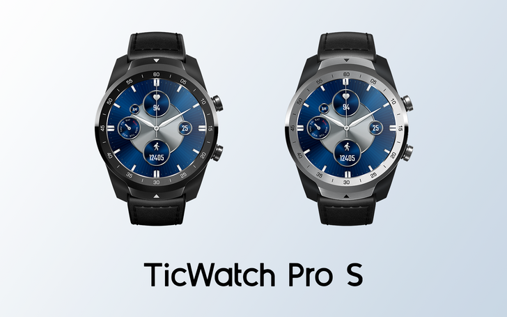 The TicWatch Pro S is a cheaper model aimed at sporty types