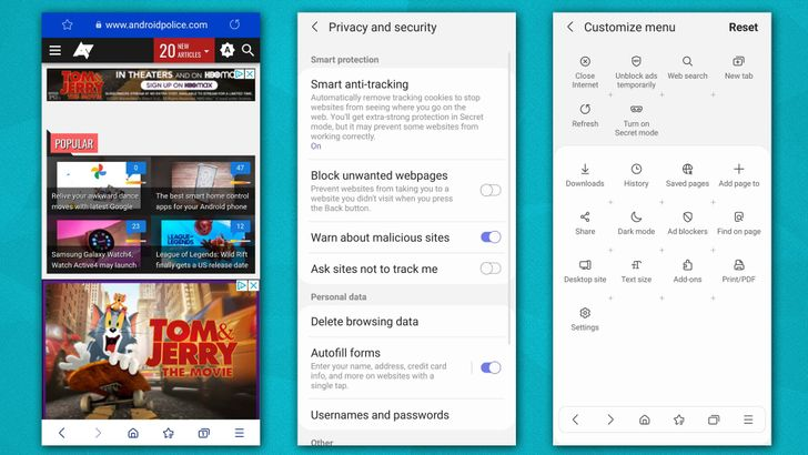 Samsung Internet 14 Beta adds more privacy tools, enhanced video UI for foldables