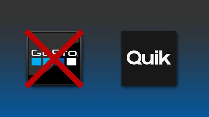 Если вы не можете найти свое приложение GoPro, это потому, что оно теперь называется Quik.