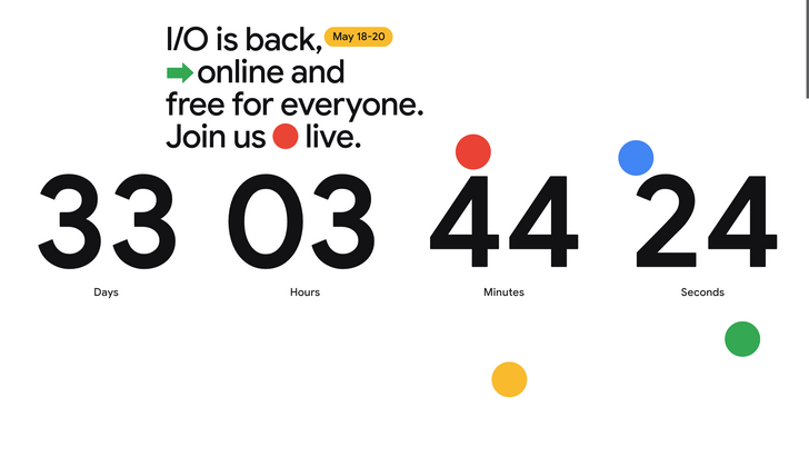 There's a breakout minigame Easter Egg hiding in the Google I/O site