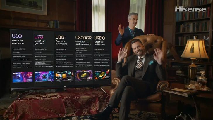 Hisense pulls a favorite Community star off the bench to sell you its new TVs