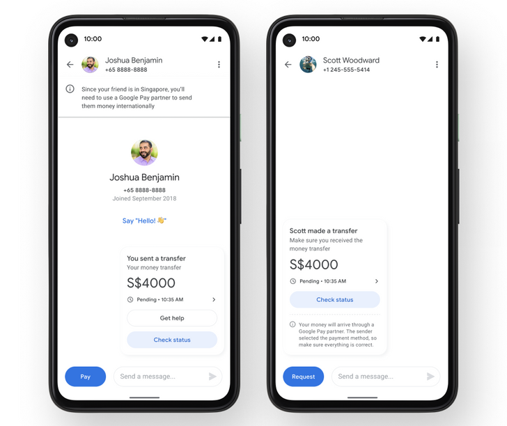 Google Pay adds international transfers, but destinations are limited for now