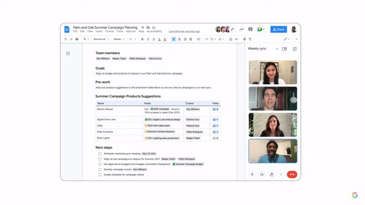 Google Workspaces gets a ton of new features and a Meet power-up