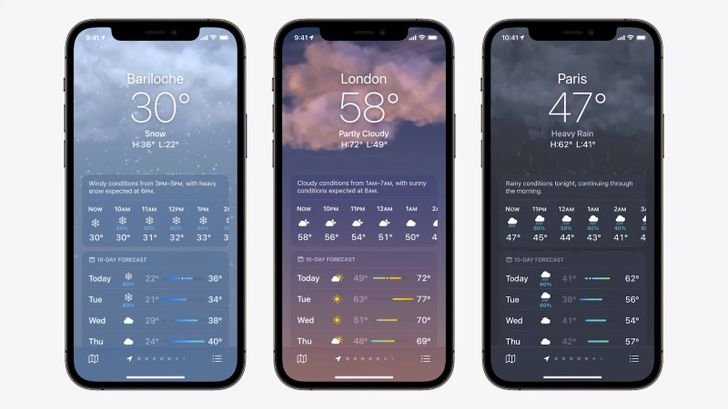 Revamped iOS 15 Weather app shows off a whole lot of Dark Sky