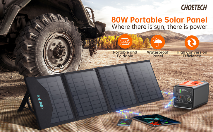 Giveaway: Win one of 4 portable solar panels from Choetech (US)