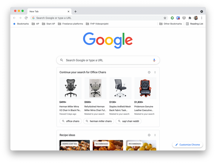 Here's how to get rid of those 'suggestions' on Chrome's new tab page