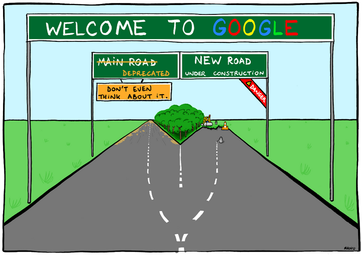 Take a look behind Google's corporate curtain with a former employee's critical comics