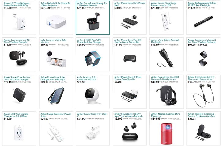 Check out a grab bag of deals on Anker's most popular gadgets